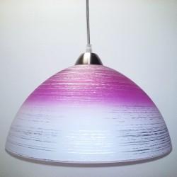 Svítidlo D4 růžovo-bílé