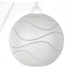 Svítidlo bílá koule s bílým závěsem