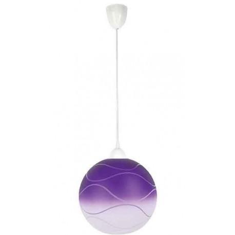 Svítidlo fialová koule s bílým závěsem