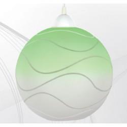 Svítidlo zelená koule s bílým závěsem