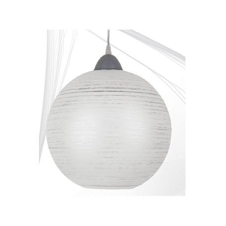 Svítidlo stříbrná koule s šedým závěsem